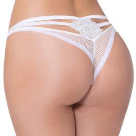 Seven 'til Midnight White Fishnet Strappy Thong