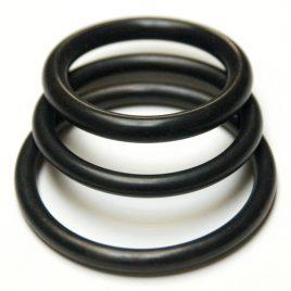 KinkLab Rubber Cock Rings, 3-Pack