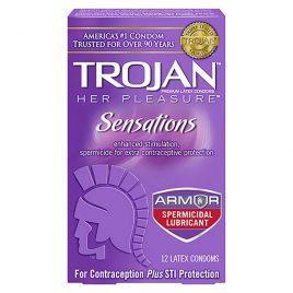 Trojan Her Pleasure Spermicidal Lubricated Condoms - 100-Pack