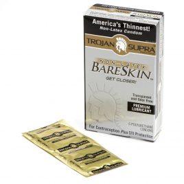 Trojan Supra Non Latex Polyurethane Condoms (6 Count)