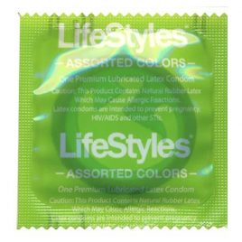 Lifestyles Assorted Colors Condoms - 100-pack