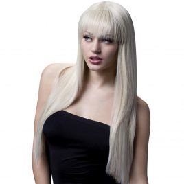 Fever Blonde Long Straight Wig with Fringe