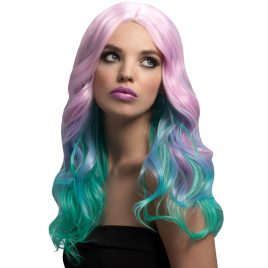 Fever Multicolor Pastel Ombre Long Wave Wig