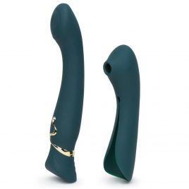 Zalo Queen App Controlled Warming G-Spot Vibrator with Suction Sleeve