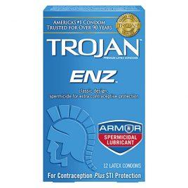 Trojan ENZ Spermicidal Lubricated Condoms - 100-Pack