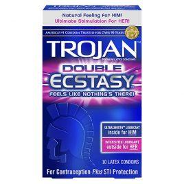 Trojan Double Ecstasy Lubricated Condoms - 100-Pack