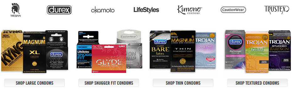 Varieties of condoms