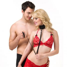 Bondage Boutique Lead Me On Soft Collar and Leash