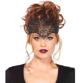 Leg Avenue Die Cut Black Royal Crown