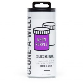 Clone-A-Willy Neon Purple Silicone Refill