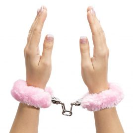 Bondage Boutique Pink Furry Handcuffs
