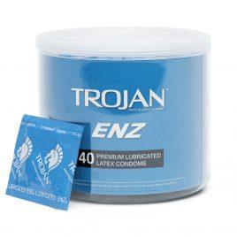 Trojan ENZ Premium Lubricated Condoms (40 Count)